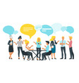 networking concept minimalism design vector image vector image