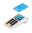 new smart pos terminal payment machine with bank vector image