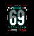 new york graphic typography for t-shirt vector image vector image