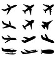 passenger planes and other airplane icon vector image vector image