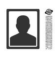 patient portrait icon with professional bonus vector image vector image