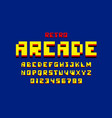 pixel retro arcade game style 80s font vector image vector image