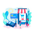 point of sale mobile payment concept vector image vector image
