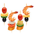 realistic 3d detailed set different canape vector image vector image