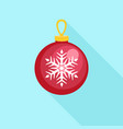red fir tree ball icon flat style vector image vector image