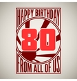 Retro poster Happy birthday vector image