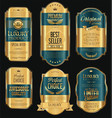 retro vintage golden frame background collection 9 vector image vector image