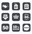 Sale discounts icon Shopping deal signs vector image vector image