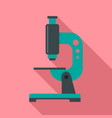 science microscope icon flat style vector image vector image