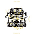 Scout camp badge striped vector image vector image