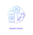 security testing concept icon