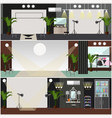 set of fashion interior posters banners in vector image