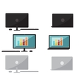 Set of flat design computer and laptop vector image vector image