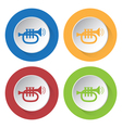 set of four icons - trumpet sound vector image