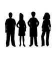 silhouettes of women and men vector image vector image