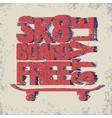 Skateboarding t-shirt emblem vector image vector image