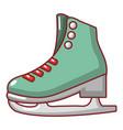 skates ice icon cartoon style vector image
