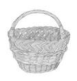sketch of wicker basket vector image