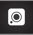 social media camera icon on white background vector image