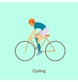 Sport people activities icon cycling vector image vector image