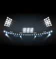 stadium lights composition vector image vector image
