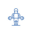 strong man line icon concept strong man flat vector image