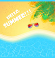 summer beach sea background vector image vector image