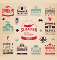 summer labels logos tags and elements set for vector image vector image