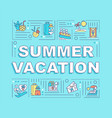 summer vacation word concepts banner vector image