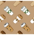 Take away coffee cup pattern vector image vector image