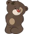The stuffed toy bear cub cartoon vector image vector image