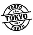 tokyo black round grunge stamp vector image