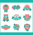top pr marketing labels set 8 vector image vector image