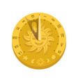 top view sundial icon with shadow concept of vector image