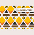 triangular head birds seamless pattern cartoon vector image vector image