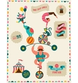 vintage poster with carnival fun fair circus vector image