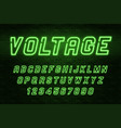 Voltage neon light alphabet realistic extra