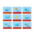 weather sign set vector image vector image