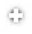 white cross over white vector image vector image
