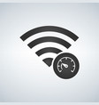 wifi connection signal icon with speed test icon vector image vector image
