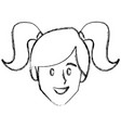 woman face smiling cartoon vector image vector image