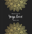 yoga business card design in gold an black vector image