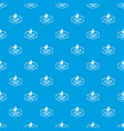 zombie pattern seamless blue vector image vector image