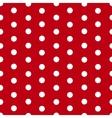 Polka dot seamless pattern background vector image
