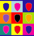 shield sign pop-art style vector image
