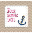 Card background with anchor and waves vector image