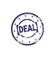 safe deal stamp blue grunge sticker or badge icon vector image