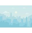 Sun day ozone in the city Cityscape simple vector image
