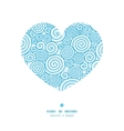 abstract swirls heart silhouette pattern frame vector image vector image