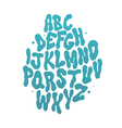 abstract water font alphabet